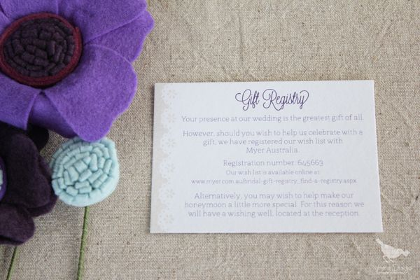 Rustic Lace wedding invitation suite, inspired by doilies, burlap, and farmhouse weddings. Gift Registry Card :: by Venecia Designs