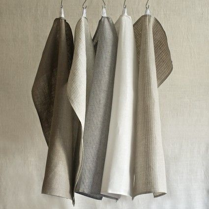FOG LINEN KITCHEN TOWEL (Designed by Yumiko Sekine of Fog Linen in Tokyo and produced in Lithuania) #white