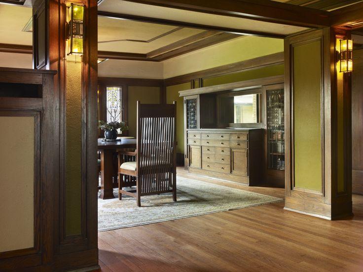 Interior George And Delta Barton House Buffalo New York Designed By Frank Lloyd Wright