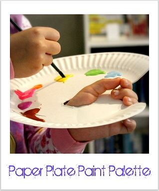 painting-----paper plate paint palette for kids