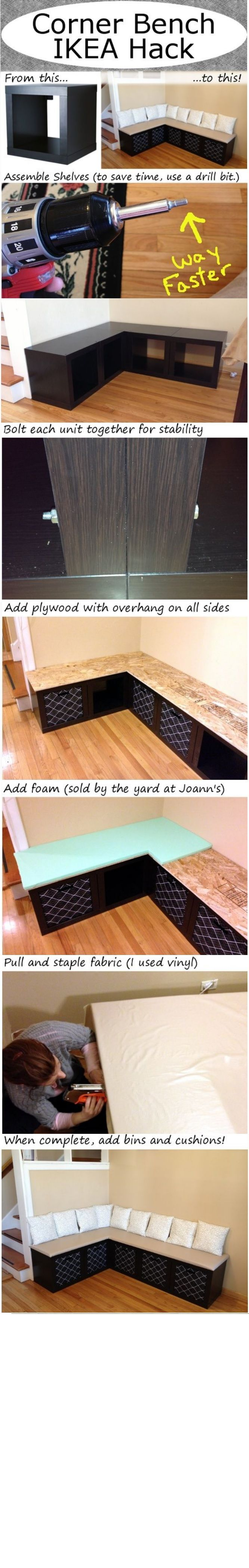 DIY Corner bench                                                                                                                                                      More