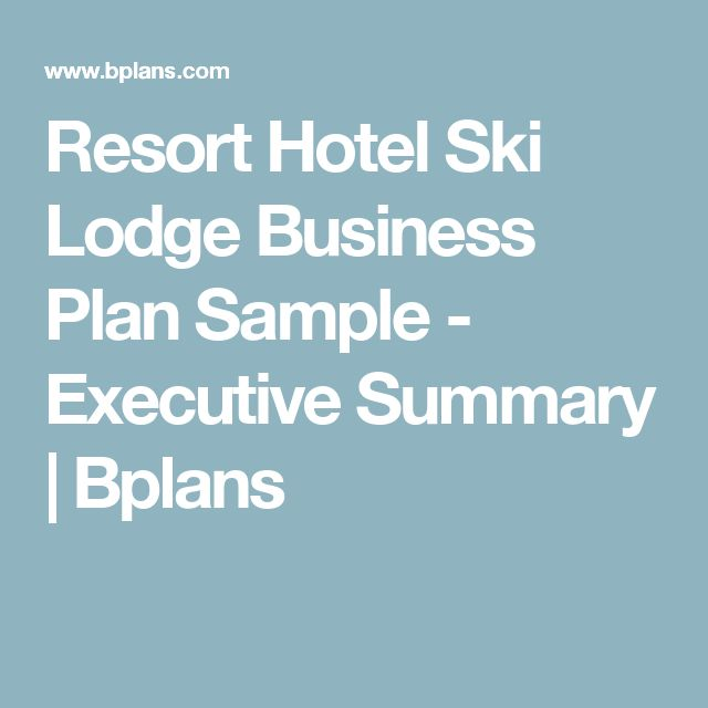 beispiel business plan hotel sample