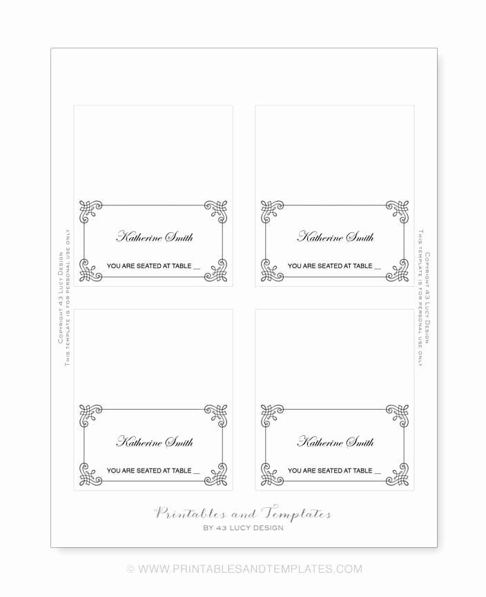 11 Free Place Card Templates 6 Per Page In 2021 Free Place Card Template Place Card Template Word Place Card Template
