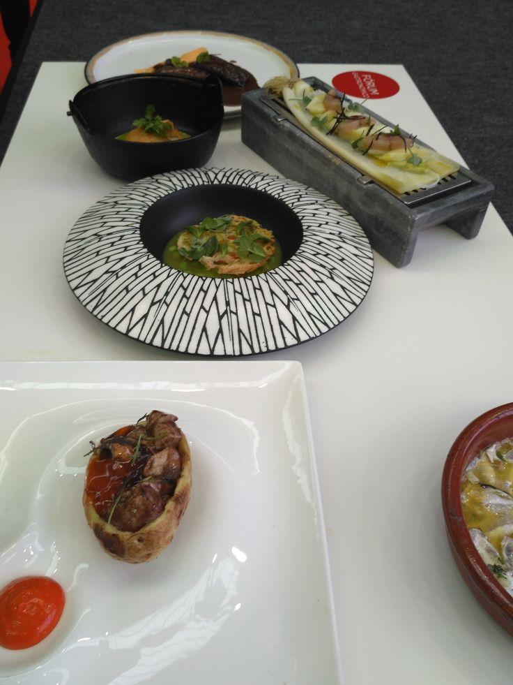 Selección de platos del colectivo #coruñacocina presentes en el Forum Gastronómico Coruña 2017