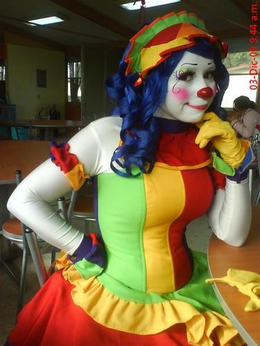 You hot female clown sex