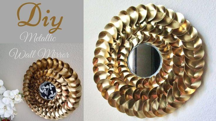 Diy Metallic Gold Wall Mirror Decor| Chinese Money Plant Leaves Shape inspired! – Money Plants