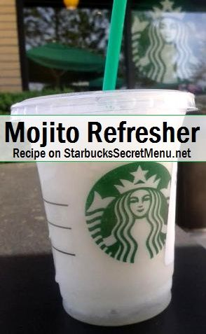 Starbucks Secret Menu Mojito Refresher! Recipe here: http://starbuckssecretmenu.net/mojito-refresher-starbucks-secret-menu/