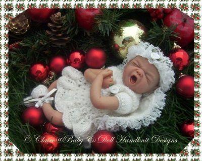 Ángel de la Navidad la técnica de tejer patrón de 7.12 pulgadas muñecas navidad, ángel, muñeca