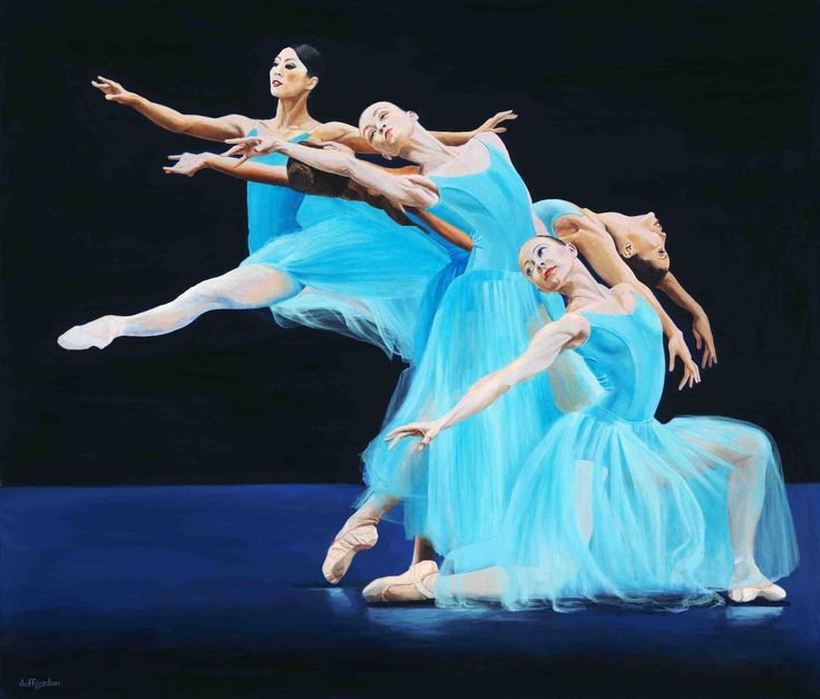 A ballet piece for you to enjoy. Find more at duffgordon.gallery #art #dance #ballet #fineart