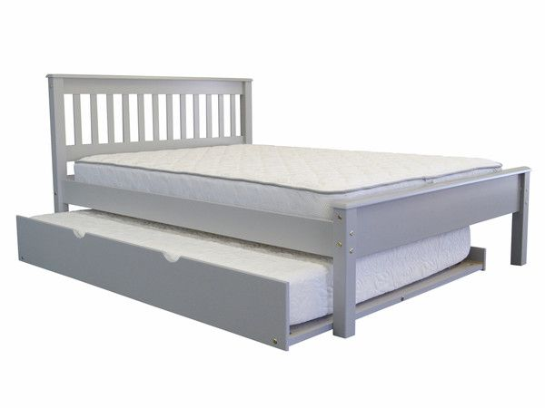 Full Bed Gray With Full Trundle