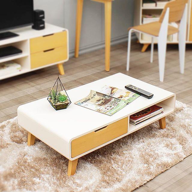 Scandinavian With Natural Wood Feeling Helsinki Sofa Table 100 55 30 Cm Bahan Mdf Kayu Mahoni Finish Duco Online Furniture Furniture Sofa Table