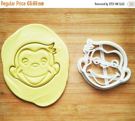 Curious George Cookie Cutter not Curious George invitation birthday birthday shirt Curious George shirt birthday Curious George invitation