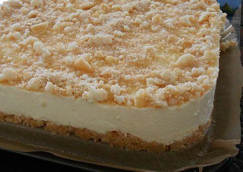 Zutaten     300 g  Löffelbiskuits  125 g  Butter  2 Pkt.  Frischkäse (Philadelphia) je 200 g  1 Pck.  Vanillezucker  1 Pck.  Gött...