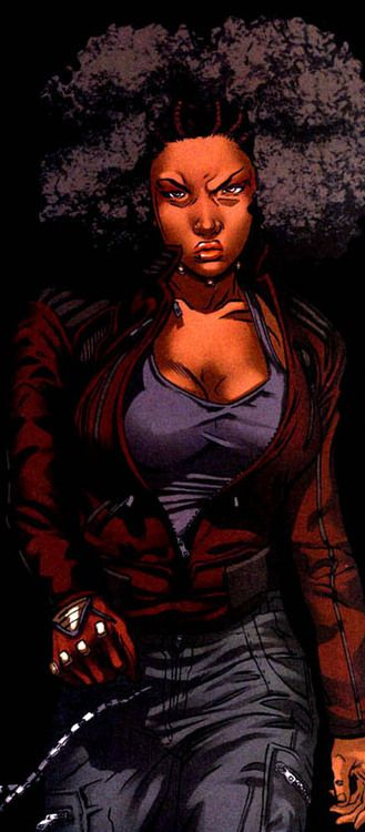 froggyfibers:  1/2 of the Daughters of the Dragon: Misty Knight with the best hair at Marvel