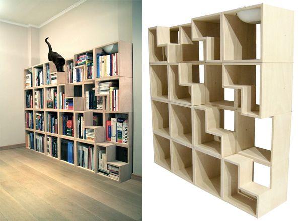 Quand la bibliothèque se fait aussi arbre à chat | Nuage Ciel d'Azur