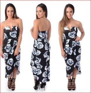 ++One+only++Luvalot+size+6+black+floral+structured+bust+sweetheart+neckline+midi.+Perfect+for+those+warmer+seasons+and+all+year+round.+Comes+with+detachable+straps+