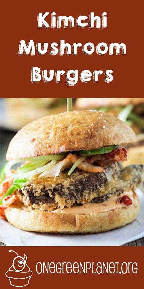 Vegan Kimchi Mushroom Burgers