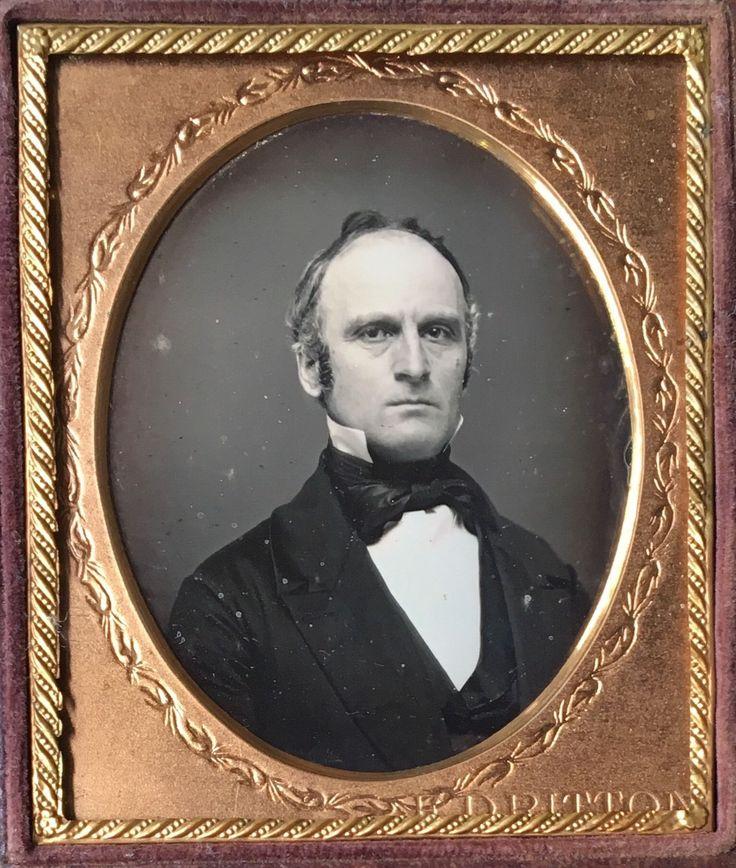 Details about HANDSOME MAN BY E.D. RITTON FROM DANBURY, CONNECTICUT 1/6 DAGUERREOTYPE D453