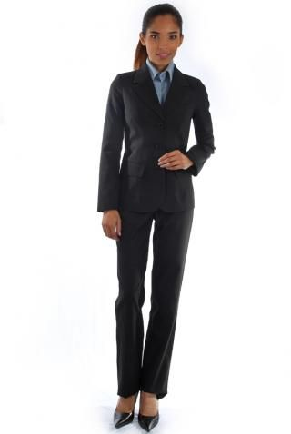 Terno Social Risca de Giz - Uniforme Feminino - Yoshida Hikari - Uniformes Sociais para Empresas - uniformes sob medida, Ternos Oxford - Camisas - Calças - Feminino - Masulino - Empresarial