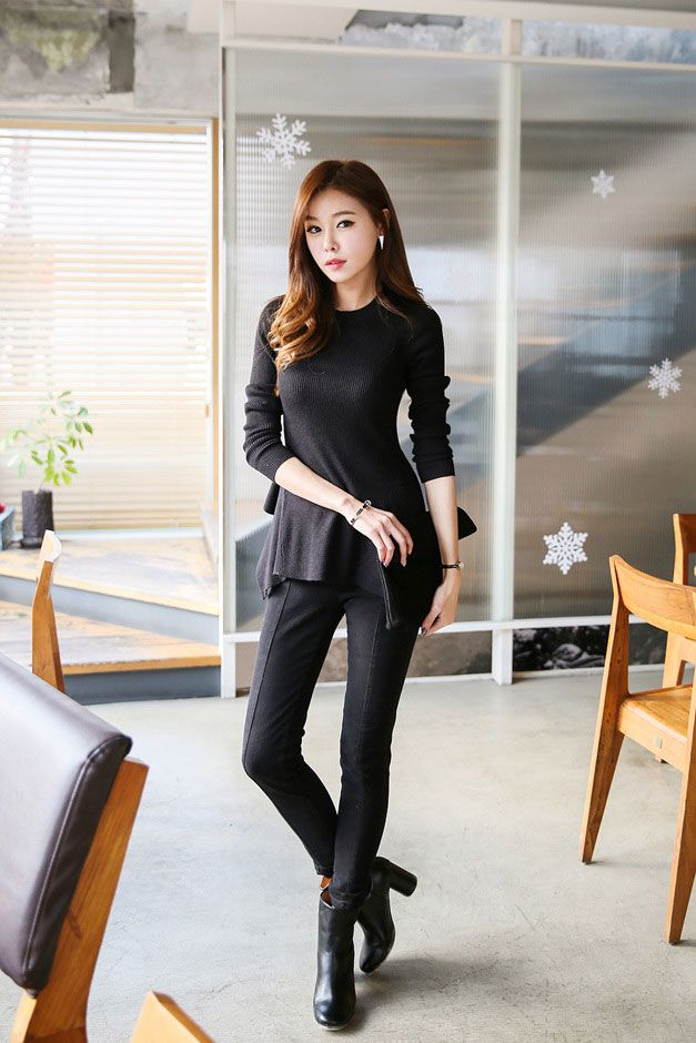 Round Flare Knit Top