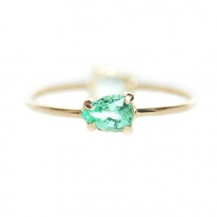 16 Engagement Rings That Will Make You Forget All About Diamonds | Tourmaline & 14k Gold