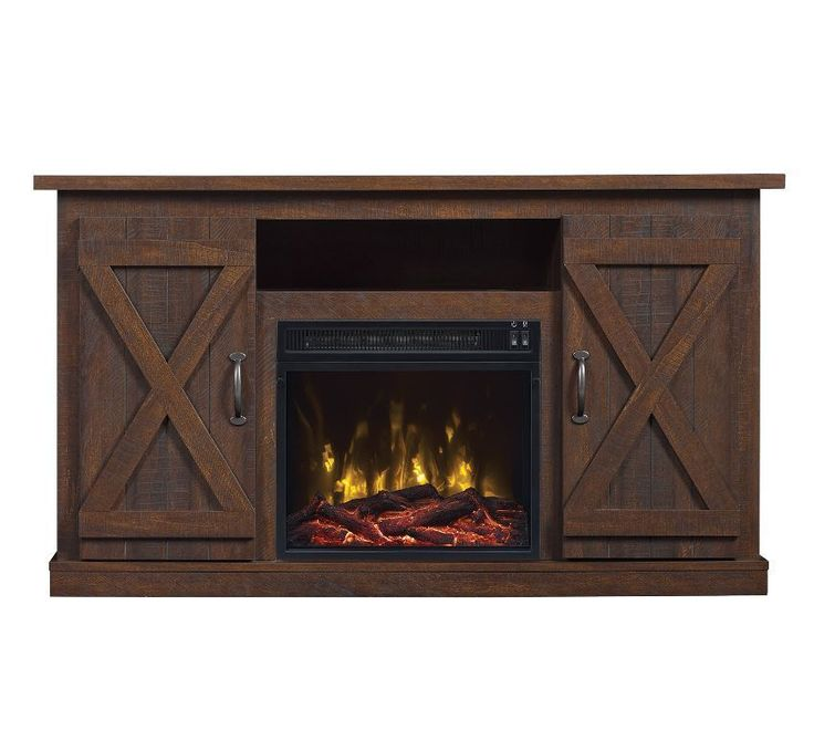 Fireplaces Media Center Electric Fireplace TV Stand Rustic Flat Screen Barn Wood #LPRFC #Contemporary