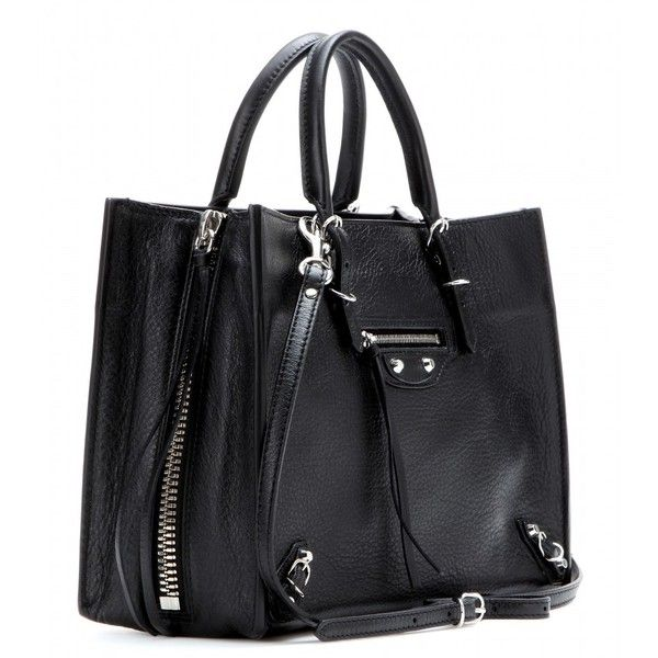 Balenciaga Papier A6 Zip Around Leather Shoulder Bag (€1.235) ❤ liked on Polyvore featuring bags, handbags, shoulder bags, purses, balenciaga shoulder bag, genuine leather handbags, balenciaga, leather purse and black handbags