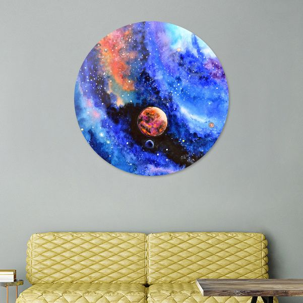 Discover «Galaxy landscape», Exclusive Edition Disk Print by Nikita Jariwala - From $85 - Curioos