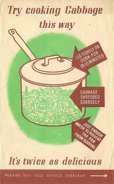 Ministry of Food How to cook cabbage WW2 instructions