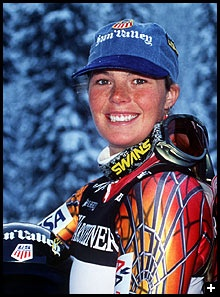 Picabo Street, Skiing  Two Time World Champion, in Downhill, Gold Medalist in Vail, Colorado during the World Championships