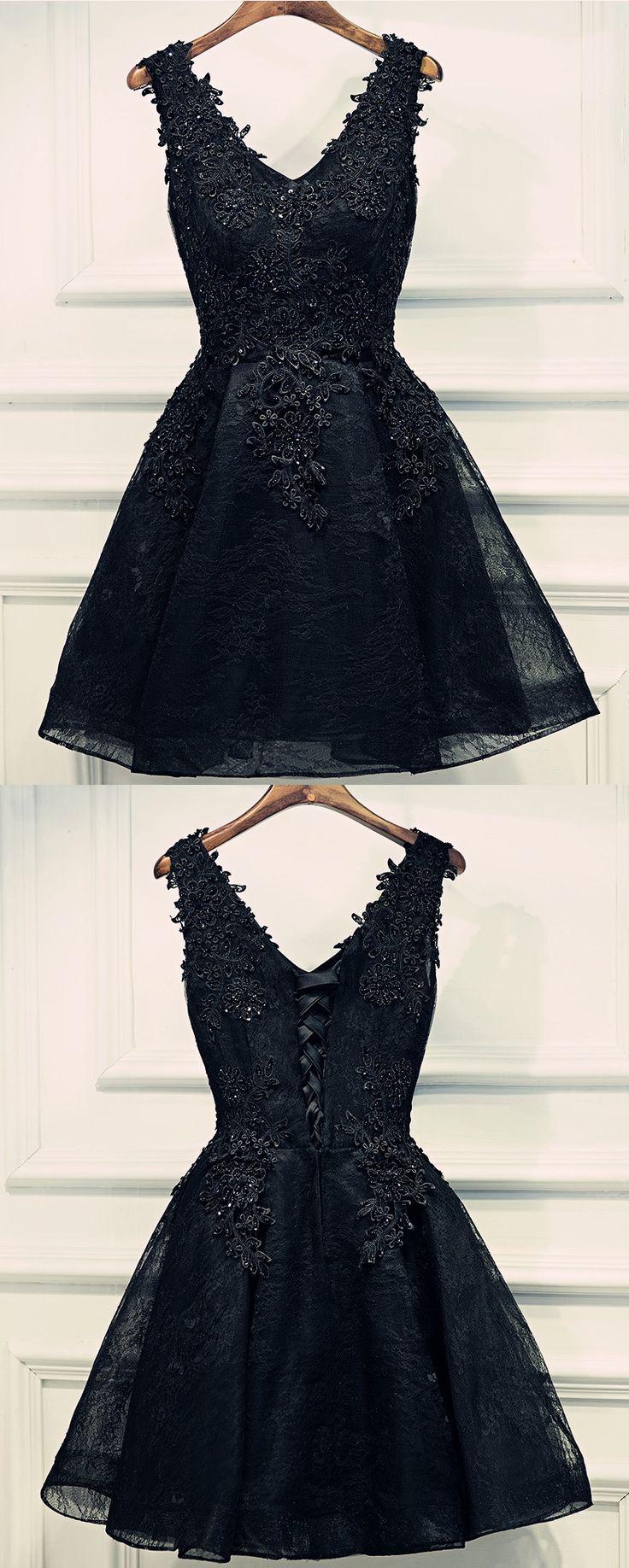 Black lace black dress