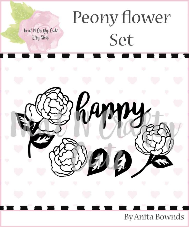Peony flower Set cut files. For scrapbooking and paper crafting by NeatNCraftyCutz on Etsy