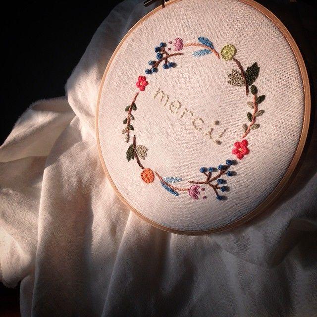 Merci! #자수 #embroidery