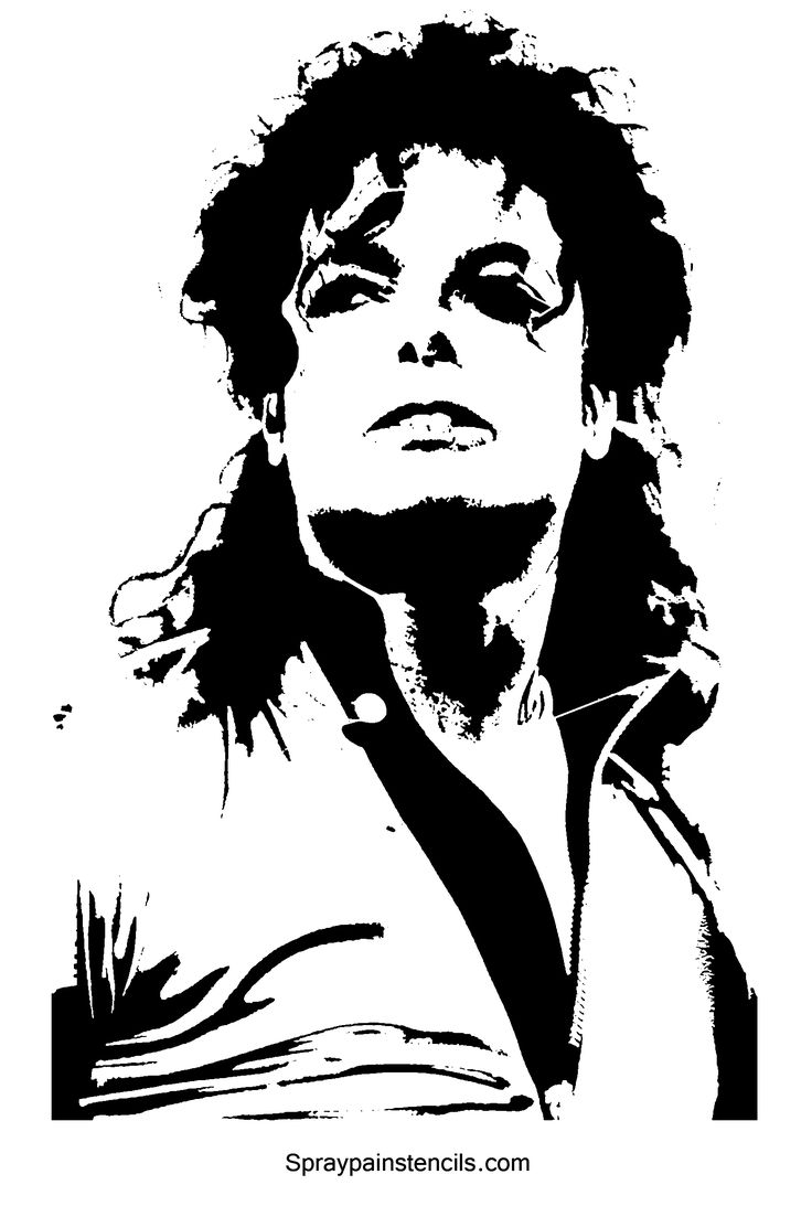Printable stencil template 35 free jpeg png pdf format download michael jackson stencil template free printable download toneelgroepblik
