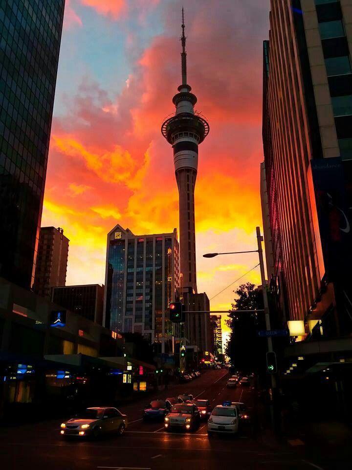 Sky tower auckland city...