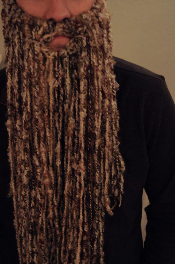 hubby's wife-made beard... for halloween!!!! #costume