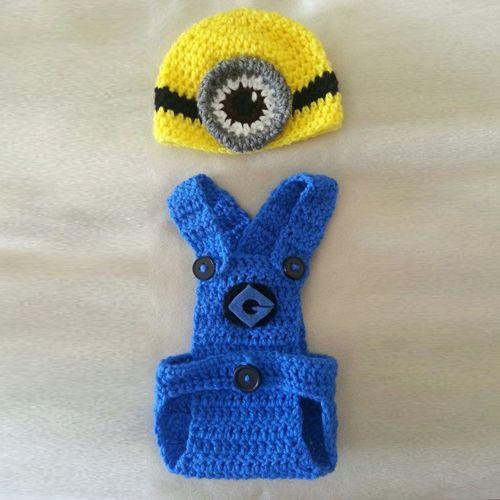 Crochet For Children: Crochet Minion Infant Outfit - Free Pattern