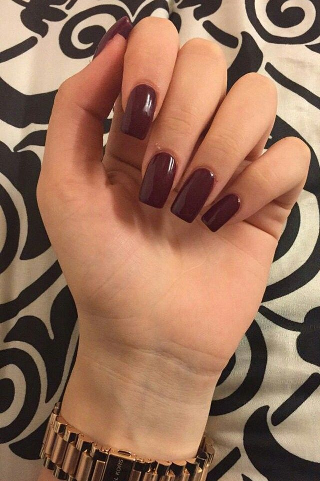Neat skinny square nails