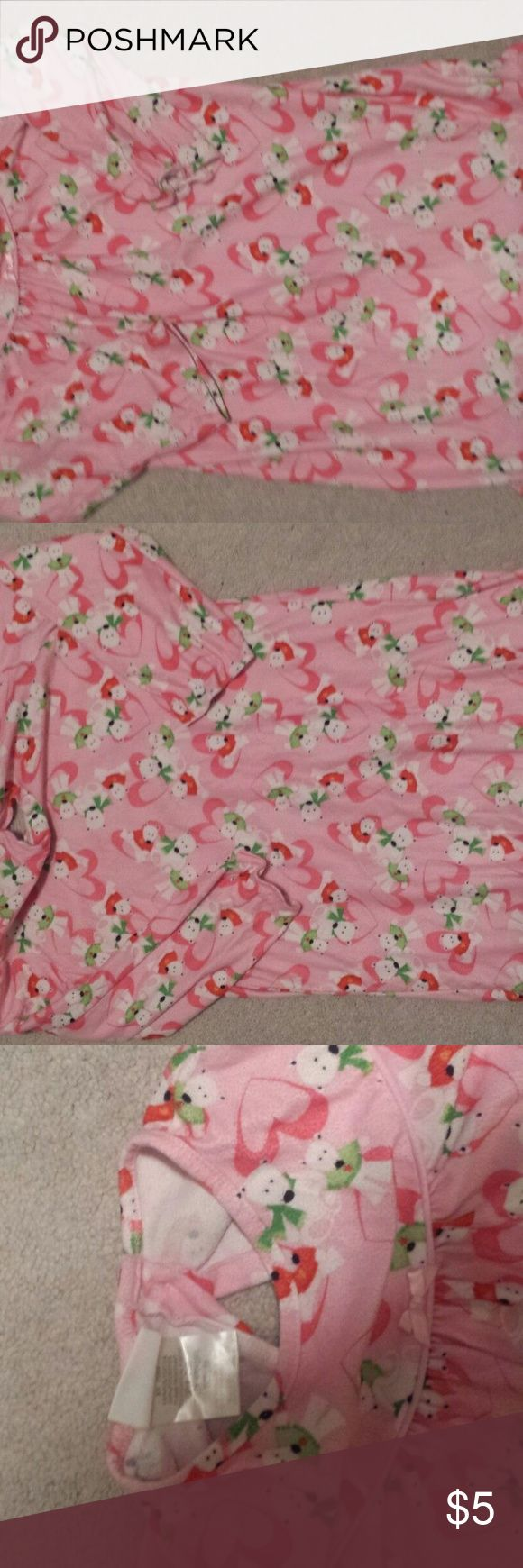 Girls sleepwear Pillow Pals girls Sleepwear- Excellent condition- Very Gently Used Coming from a smoke free home Beautiful Pink design that your girl will absolutely love! 100% Polyester Pillow Pals Pajamas Nightgowns