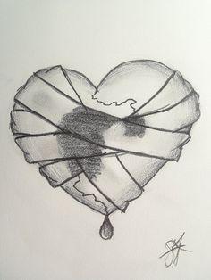 Sad Broken Heart Drawings