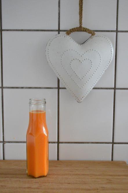 Healthy carrot juice