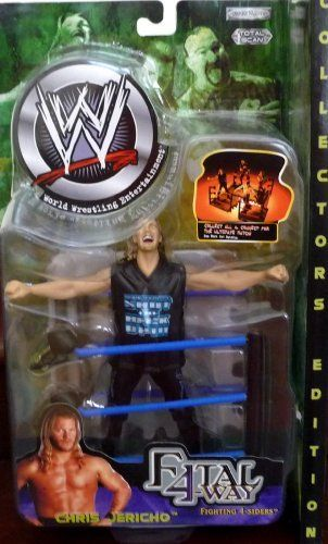 CHRIS JERICHO WWE WWF Jakks Pacific Toy Figure Fatal 4-Way Fighting 4-Siders Series 3 by Jakks. $39.99. Fighting 4-Siders. Toy Figure. by Jakks Pacific. Chris Jericho. Fatal 4-Way Series 3. CHRIS JERICHO WWE WWF Jakks Pacific Toy Figure FATAL 4-WAY SERIES 3: Fighting 4-Siders   this figure does not contain moveable joints and is statue like.