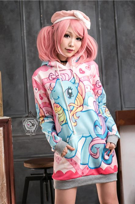 Kawaii My Little Pony Cartoon Hooded Top | Pixieknix