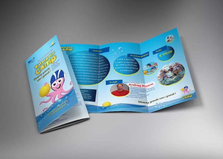 Trifold & poster - Waterpolo camp 2013
