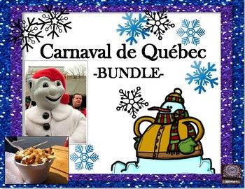 FRENCH - This Bundle of Activities for the Carnaval de Québec will save you money and surely keep your students involved in their learning. The products below include an Internet search activity, an oral task cards activity, sight words for a word wall, a matching vocabulary game and MORE.