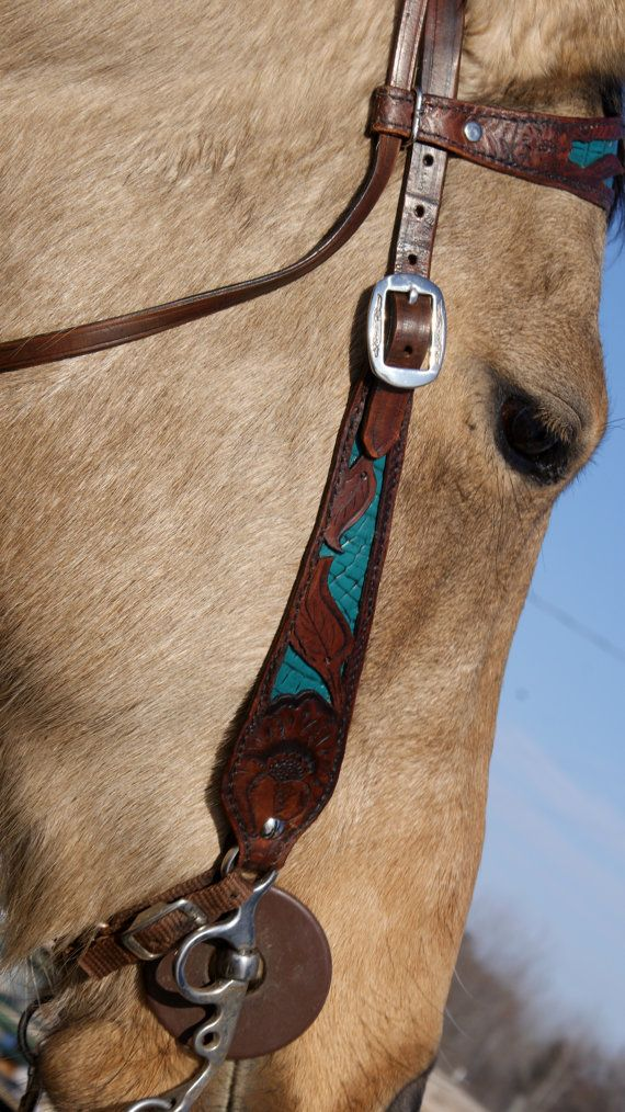Horse bridle  vibrant colors and custom by WildRidersLeather, $125.00