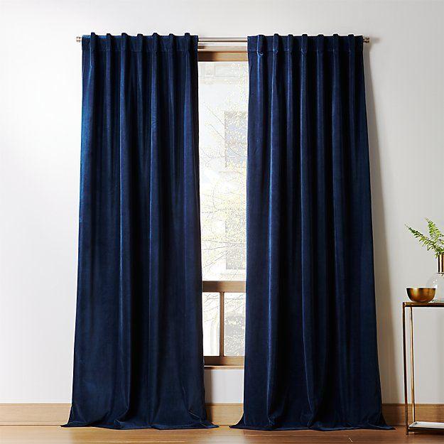 Velvetpanelnavy96shf18 Blue Velvet Curtains Navy Blue Curtains Dining Room Curtains