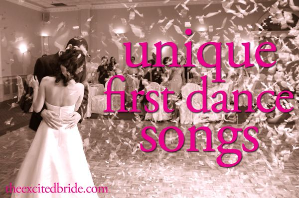 for the wedding: first dance songs you've NEVER heard before!