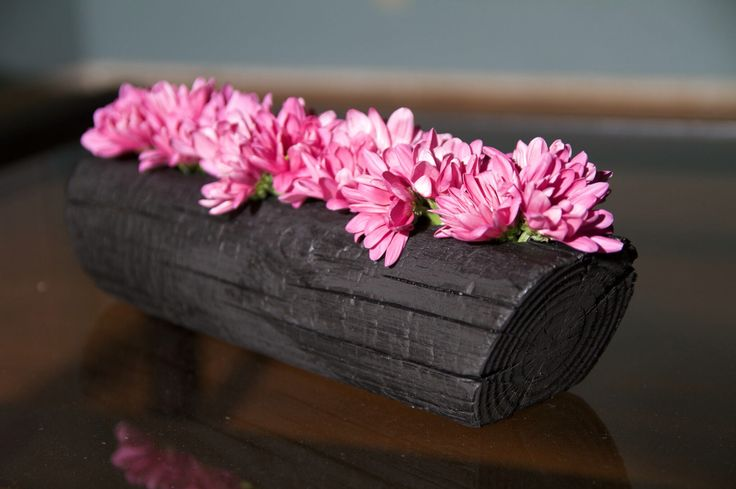 Shou Sugi Ban flower vase