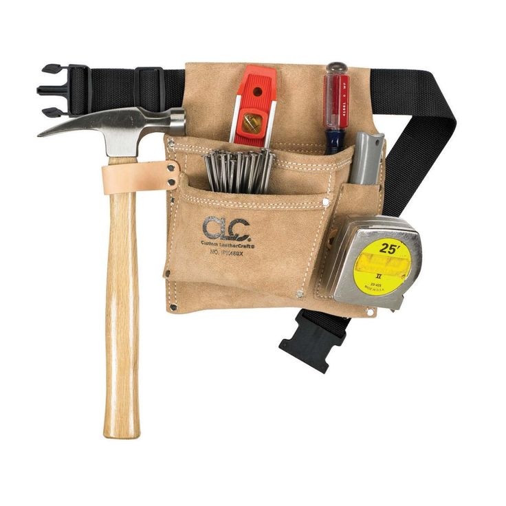 CLC® 3 Pocket Nail & Tool Bag with Polyweb Belt (IPK489X) - Tool Pouches & Holders - Ace Hardware